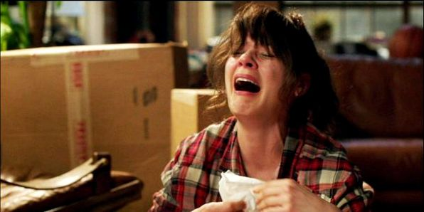 Jess from New Girl crying' /