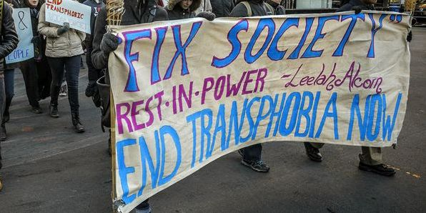Protest for transgender rights' /