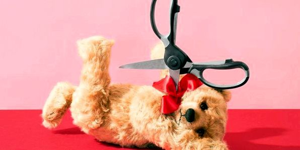 Get Over Your Ex - teddy bear and scissors' /